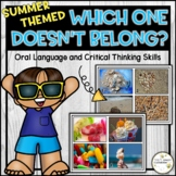 Summer Themed Which One Doesn't Belong - Critical Thinking