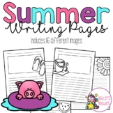 Summer Themed Writing Pages
