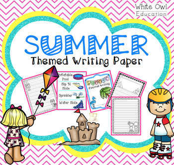 Summer Themed Writing Paper