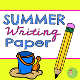 Summer Themed Writing Paper with handwriting lines ~ beach