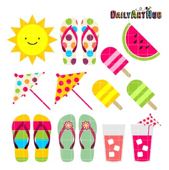Summer Things Clip Art - Great for Art Class Projects!