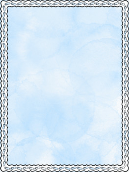 Summer Things Page Ready Borders