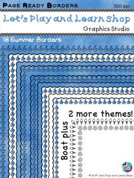 Summer Things Page Ready Borders - Freebie