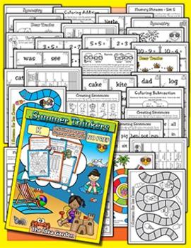 Summer Thinkers - Review NO PREP (Kindergarten)