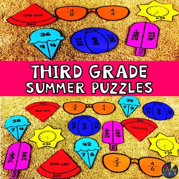 Summer Third Grade Math Puzzles