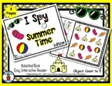 Summer Time  - Adapted 'I Spy' Easy Interactive Reader - 8 pages