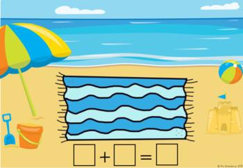 Summer Time Addition Activity | Beach Addition