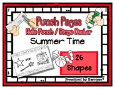 Summer Time - Beach Fun - 26 Shapes - Hole Punch Cards / Bingo Dauber Pages