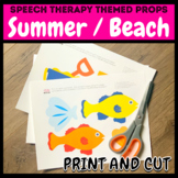 Beach Summer Time Themed Pictures for Speech Therapy / Vir