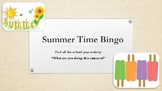 Summer Time Bingo