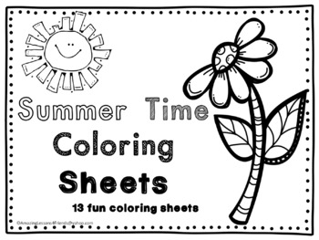 Summer Time Coloring Sheets