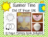 Summer Time End of Year Unit- Memory Book Included