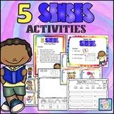 Five Senses Kindergarten Activities Matching Game