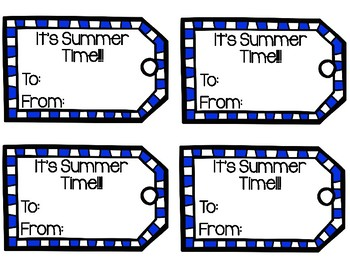 Summer Time Gift Tags