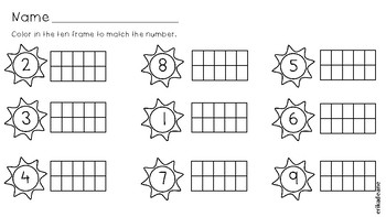 Summer Time How Many on a Domino? No Prep Worksheets