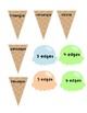 Summer Time Ice Cream Cone Shape Attributes Matching Game