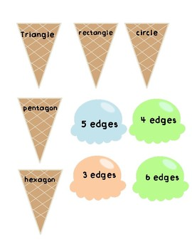 Ice Cream Cone Shape Attributes Matching Game