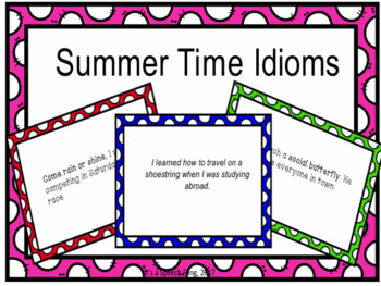 Summer Time Idioms