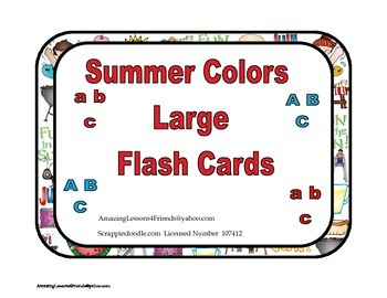 Summer Colors Large Flash Cards