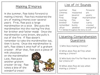 Summer Time Listening Comprehension and Articulation Pack