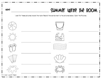 Summer Time Literacy Centers