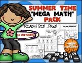 Summer Time Math Mega Pack {Ready! Set! Print!} Kindergart