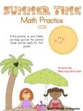 Summer Time Math Practice CCSS