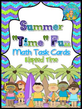 "Summer ""Time"" Math Task Cards"