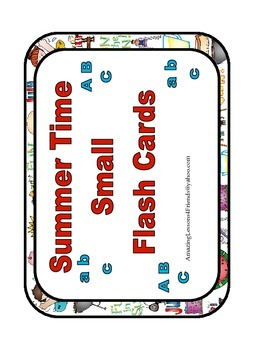 Summer Time Small Flash Cards