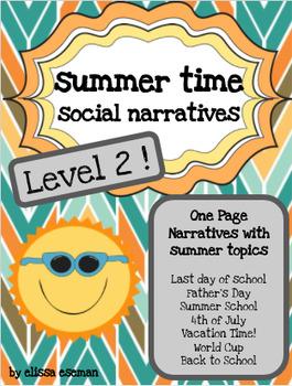 Summer Time Social Stories/Narratives LEVEL 2