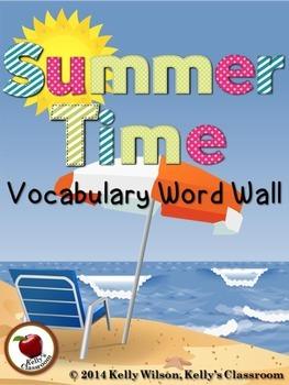 Summer Vocabulary Word Wall