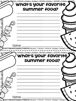 Summer Time Writing Craftivity FREEBIES!