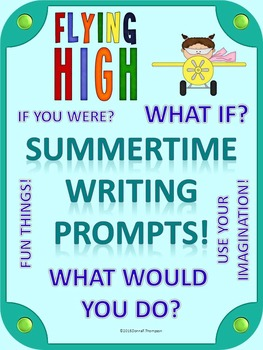 """Writing Prompts """"Summertime"""" (Worksheets)"""