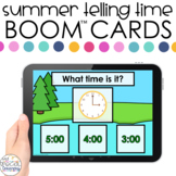 Summer Time to Hour Boom™ Cards - Distance Learning for Sp