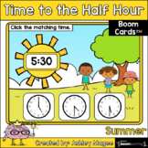 Summer Time to the Half Hour Boom Cards - Digital Distance