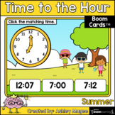Summer Time to the Hour Boom Cards - Digital Distance Learning