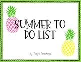 Summer To Do List FREEBIE