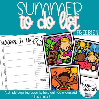 Summer To Do List Freebie!