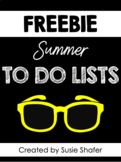 Summer To Do Lists (EDITABLE!)