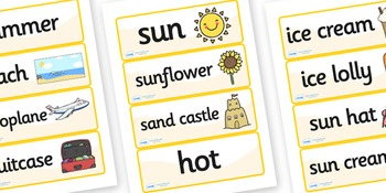 Summer Topic Word Cards