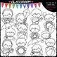 Summer Topper Kids Clip Art - Toppers Clip Art & B&W Set