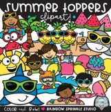 Summer Toppers Clipart {summer page toppers}