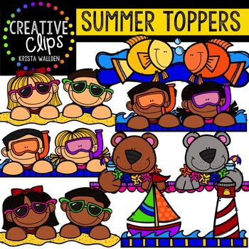 Summer Toppers {Creative Clips Digital Clipart}