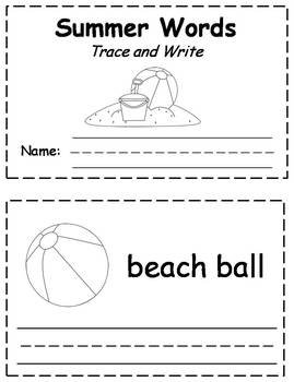 Summer Trace & Write Book