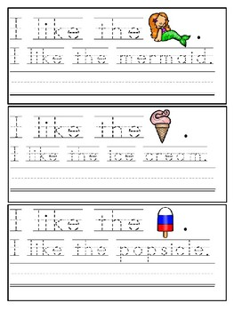 Summer Trace & Write Sight Word Sentences