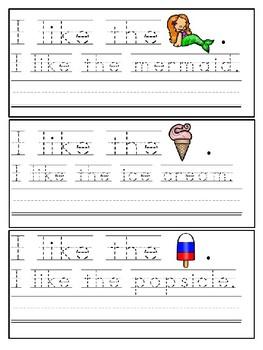 Summer Trace & Write Sight Word Sentences