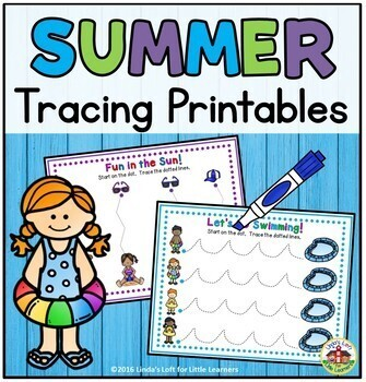Summer Tracing Printables
