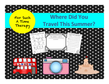 Travel: Summer Vacation Leveled Writing Project