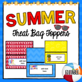 Summer Treat Bag Toppers   Editable   End of School