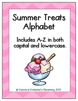 Summer Treats Alphabet! Letter and Sound Recognition Game